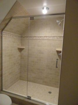 frameless-door-panel-shower-cape-cod-angled-ceiling