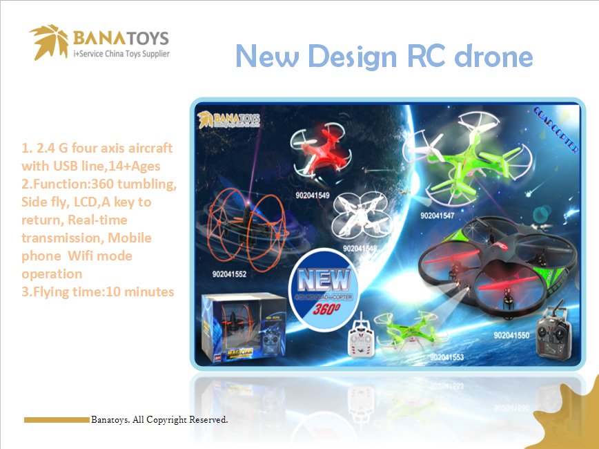 Different kinds of rc drone~ BANA INTERNATIONAL CO.,LTD. Skype:joy-banatoys    Email:joy@banatoys.net