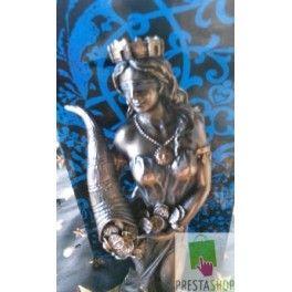 Diosa de la Fortuna resina pintada en oro y plata(18 cm)