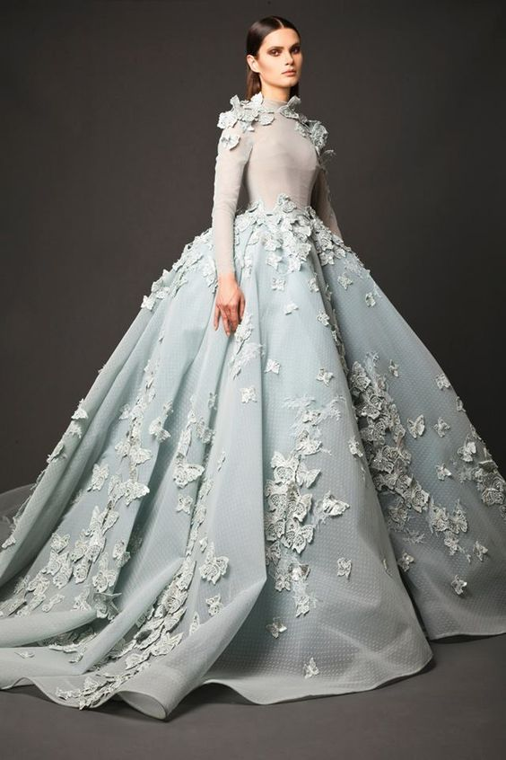 Aliexpress Buy New Design Glamorous Light Blue Wedding Gown