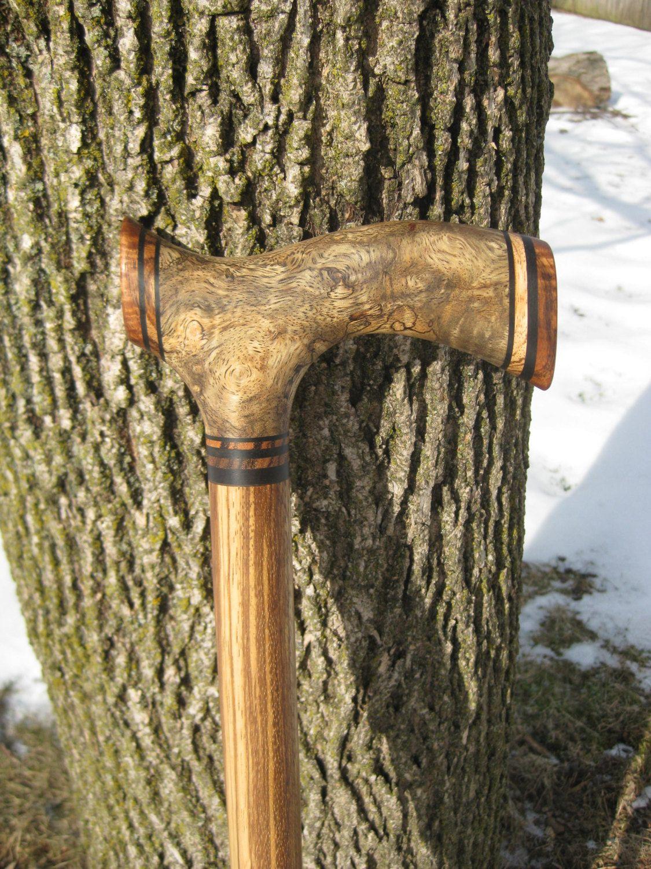 Sindora burl exotic wood walking cane wooden