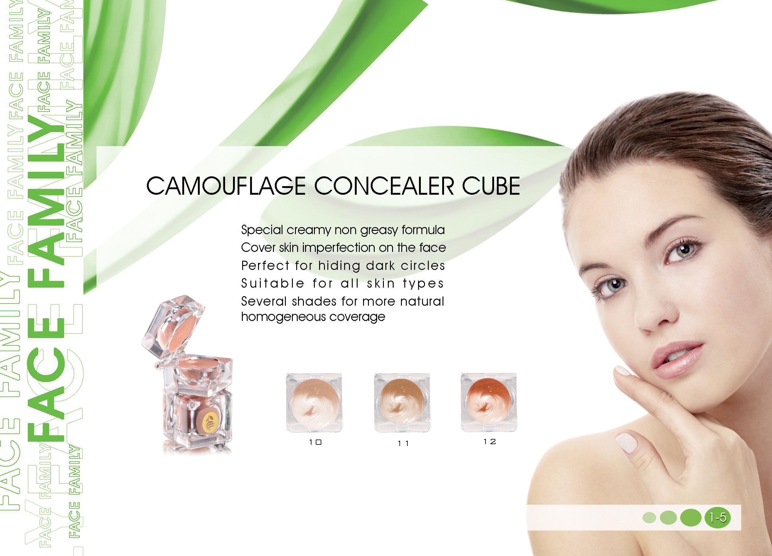 كونسيلر كيوب تركيبة خاصة غير دهنية تخفى عيوب البشرة من حبوب يعمل كمصحح لتوحيد لون البشرة وهي خاصة لمنطقة Camouflage Concealer Circle Face Skin Imperfection