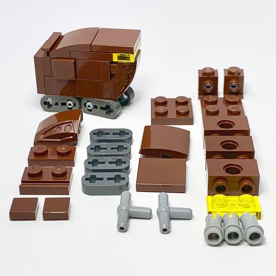Micro Sandcrawler All Parts Shown Lego Micro Lego Lego Star