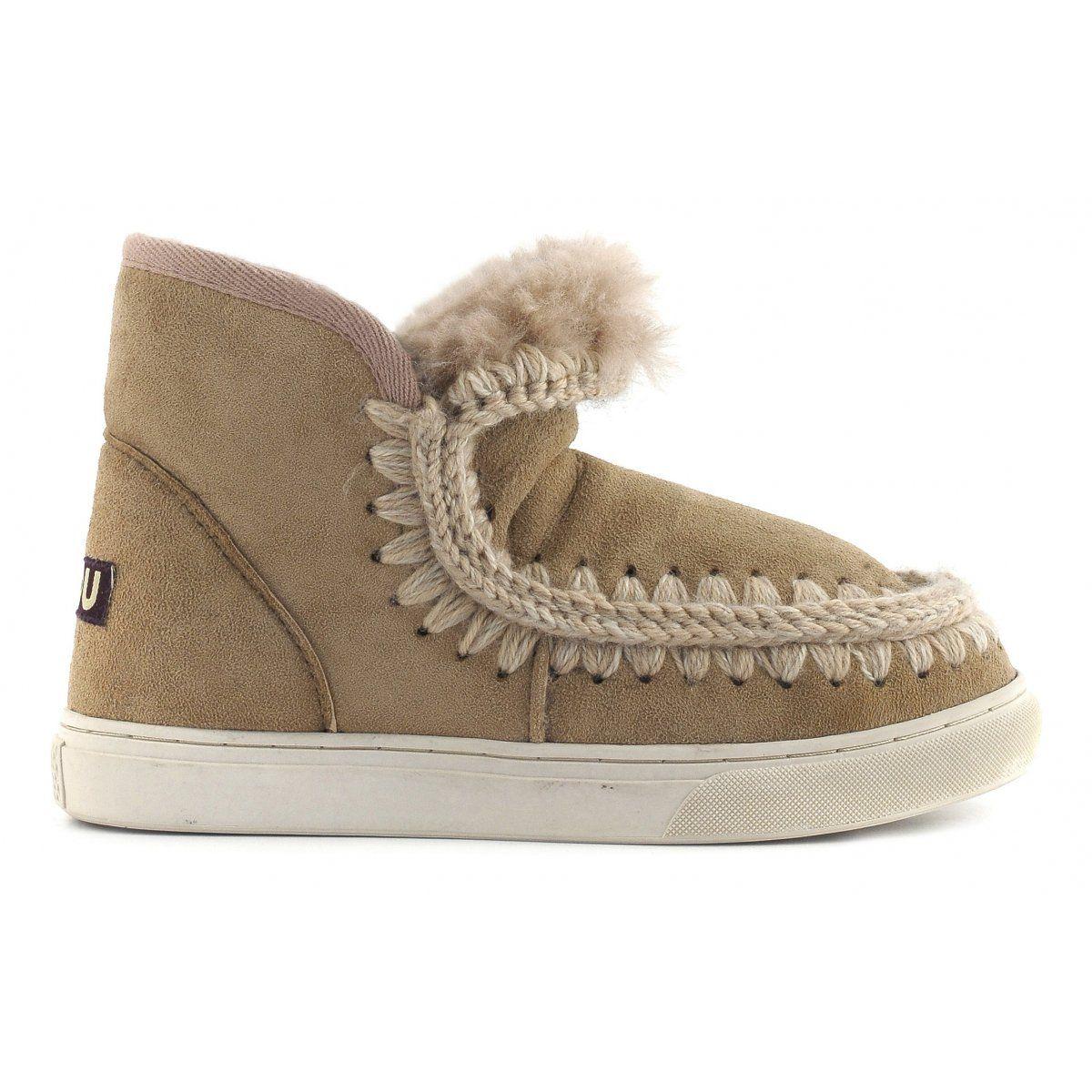 Mou Grey Mini Eskimo Sneaker Boots JFO0t9vg3V