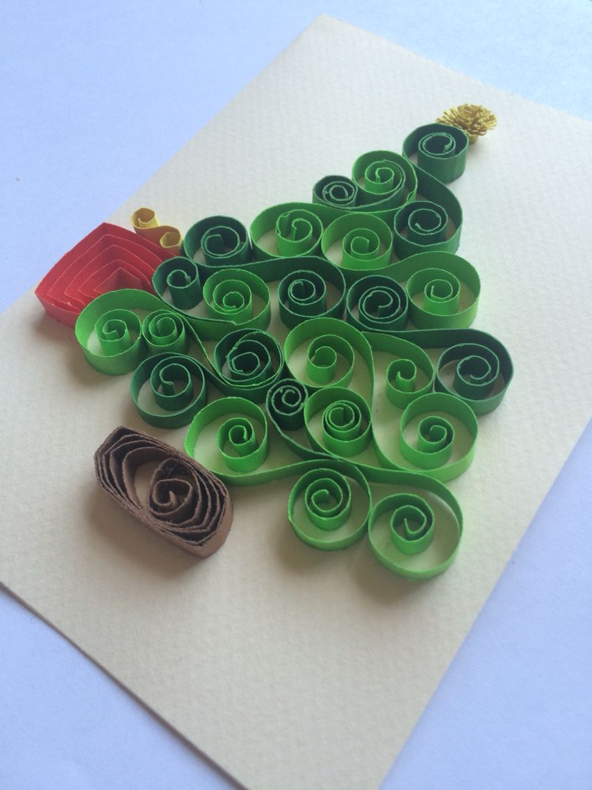 Tarjeta de navidad quilling filigrana ideas para - Tarjeta de navidad manualidades ...