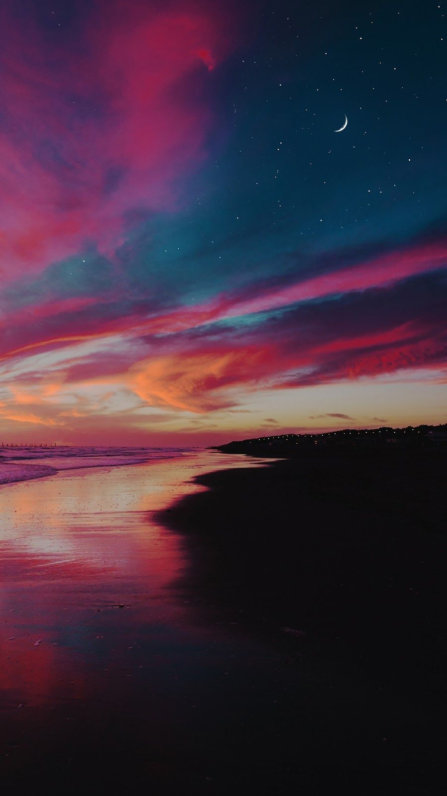 Calm Night Beautiful Wallpaper Sunset Iphone Wallpaper