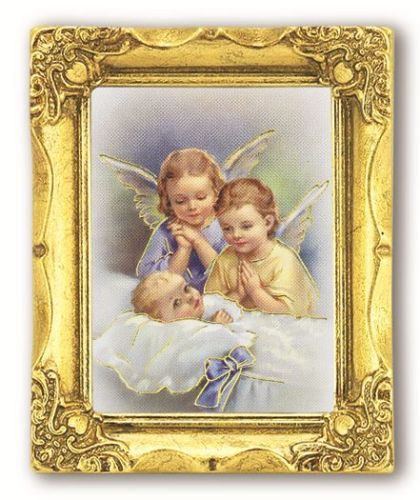 GUARDIAN-ANGELS-ANTIQUE-GOLD-FRAME