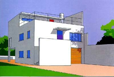 Archtect: Theo  van Doesburg, 1883-1931, Dutch painter, architect, writer