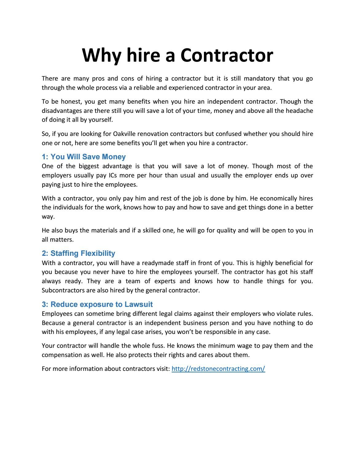 Why Hire A Contractor  Home Home Improvements And Home