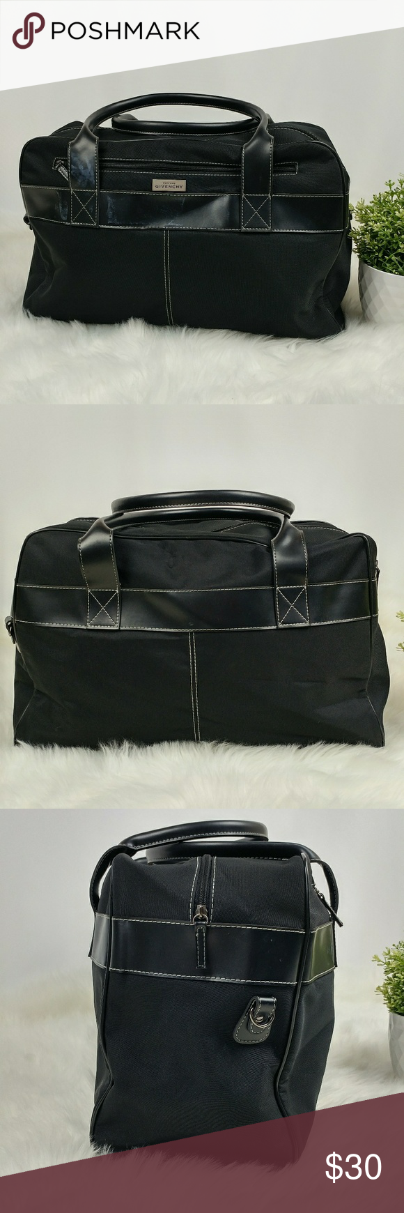 842bbcf3d572 GIVENCHY Parfums large black duffle bag travel bag GIVENCHY Parfums large black  duffle bag