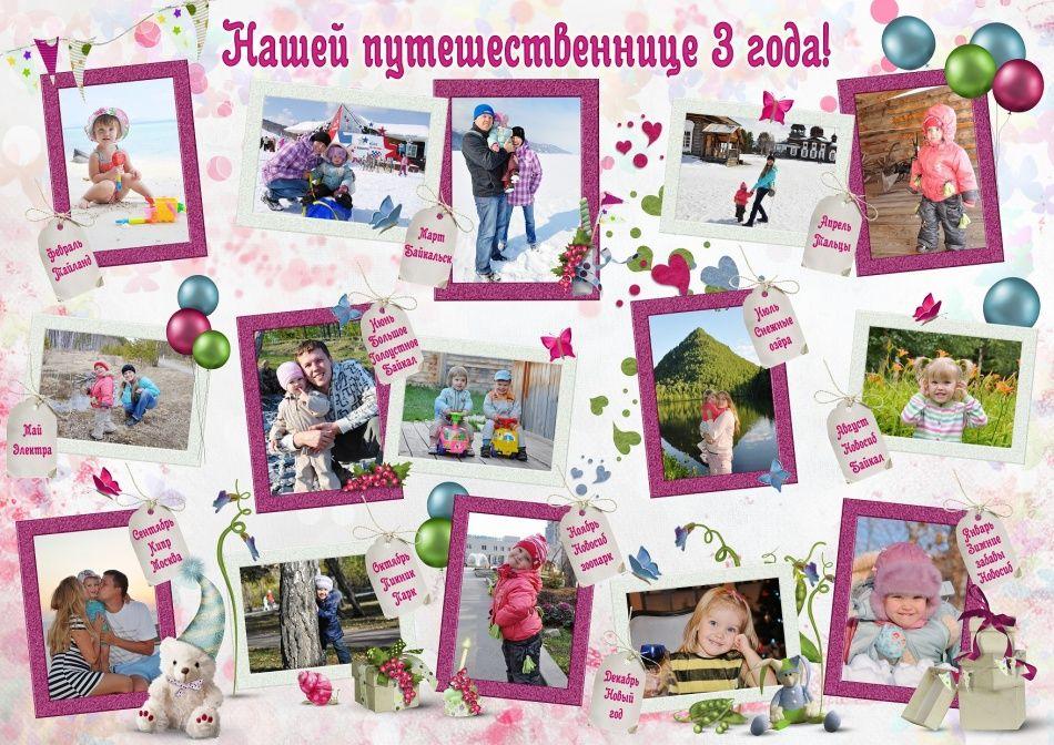 Детский плакат на День рождения ребенка своими руками ...