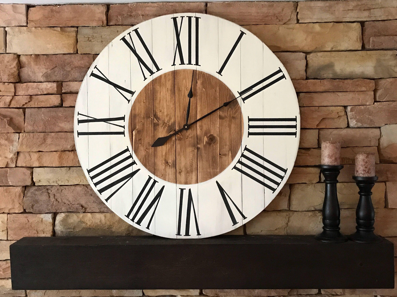 36farmhouse clock natural wood clock rustic wall clock
