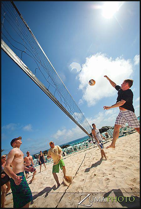Beach Volleyball On Our Private Beach In Bermuda Bermuda Wedding Fairmont Bermuda Utah Wedding Photographers