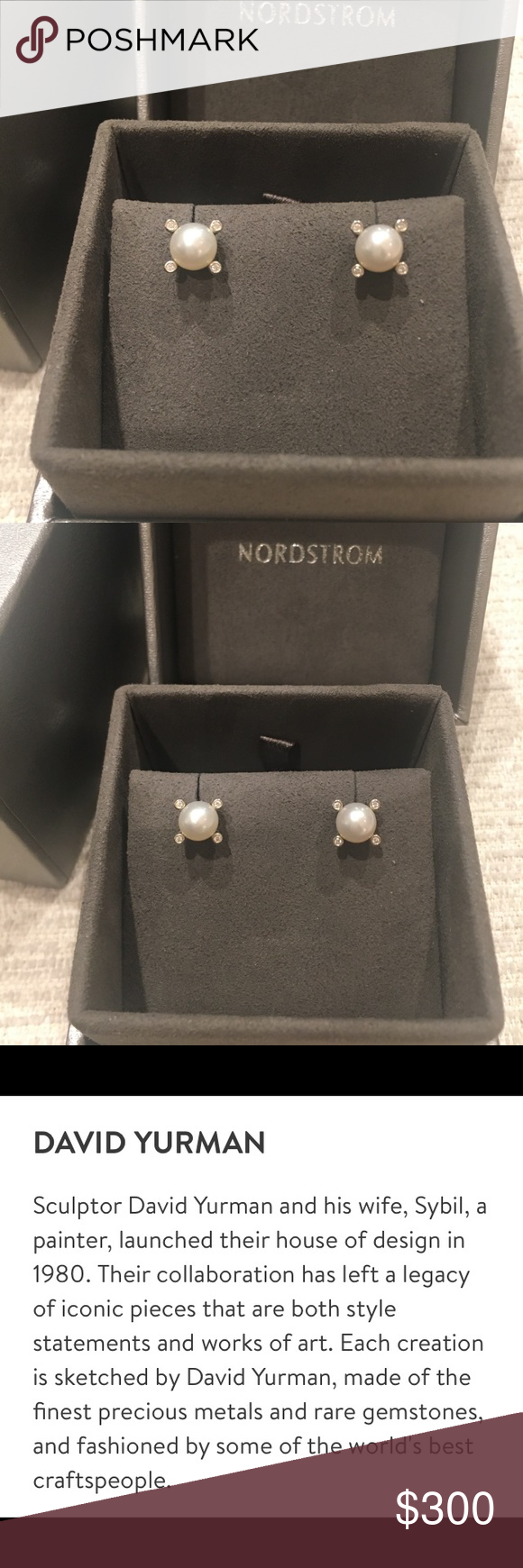 d12be1795779 David Yurman Small Pearl Earrings with Diamonds David Yurman Small Pearl  Earrings with Diamonds. Never worn. For sale at Nordstrom now for  350 plus  tax.