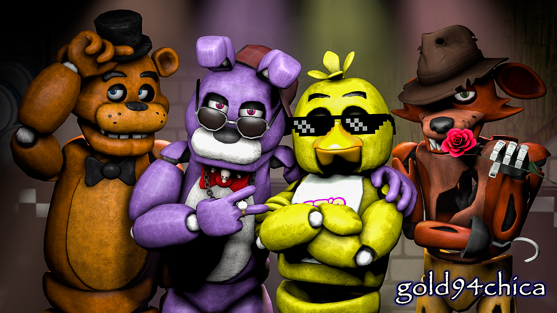 Epic Friends Forever (FNAF SFM Wallpaper) by gold94chica.deviantart.com on @DeviantArt