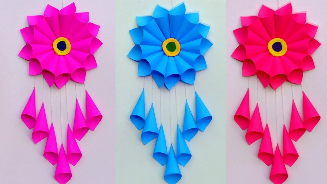 save off online here watch PAPER CRAFT!!! WALL HANGING CRAFT IDEAS!! ROOM DECORATION/DIY ART ...