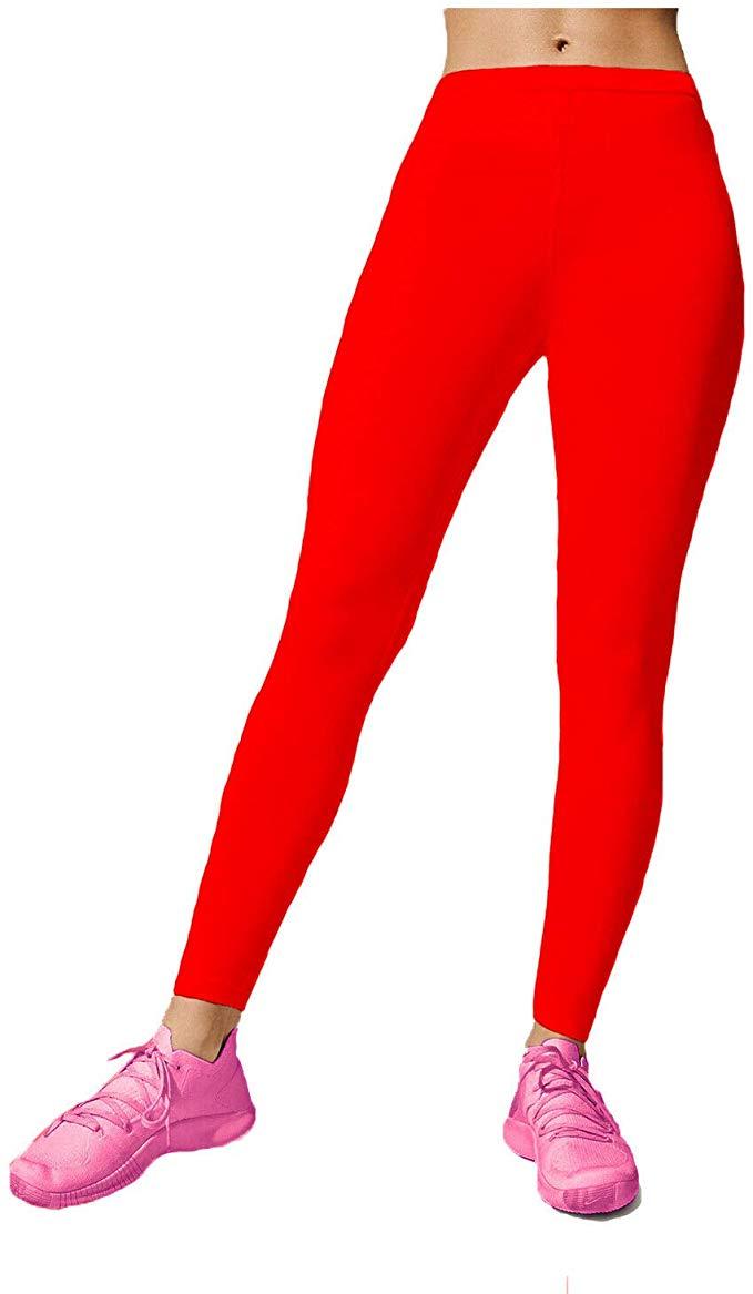 Papaval Girls Kids Footless Leggings Neon Shiny Nylon Lycra Children Sport Dance Ballet Gymnastics Tight Trouser