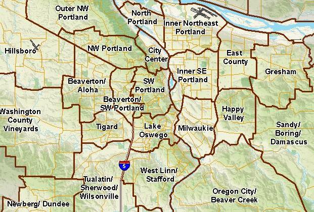 Portland Oregon Map Of Neighborhoods.Neighborhood Map Of Portland Oregon Portland Oregon And Its
