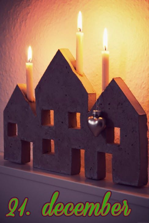 Støb en lysestage i beton – 21. december