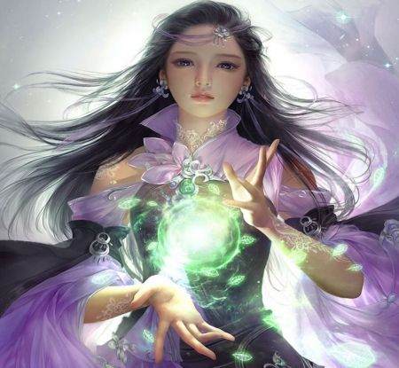 Magic fantasy woman long hair magic abstract sweet - Abstract anime girl ...