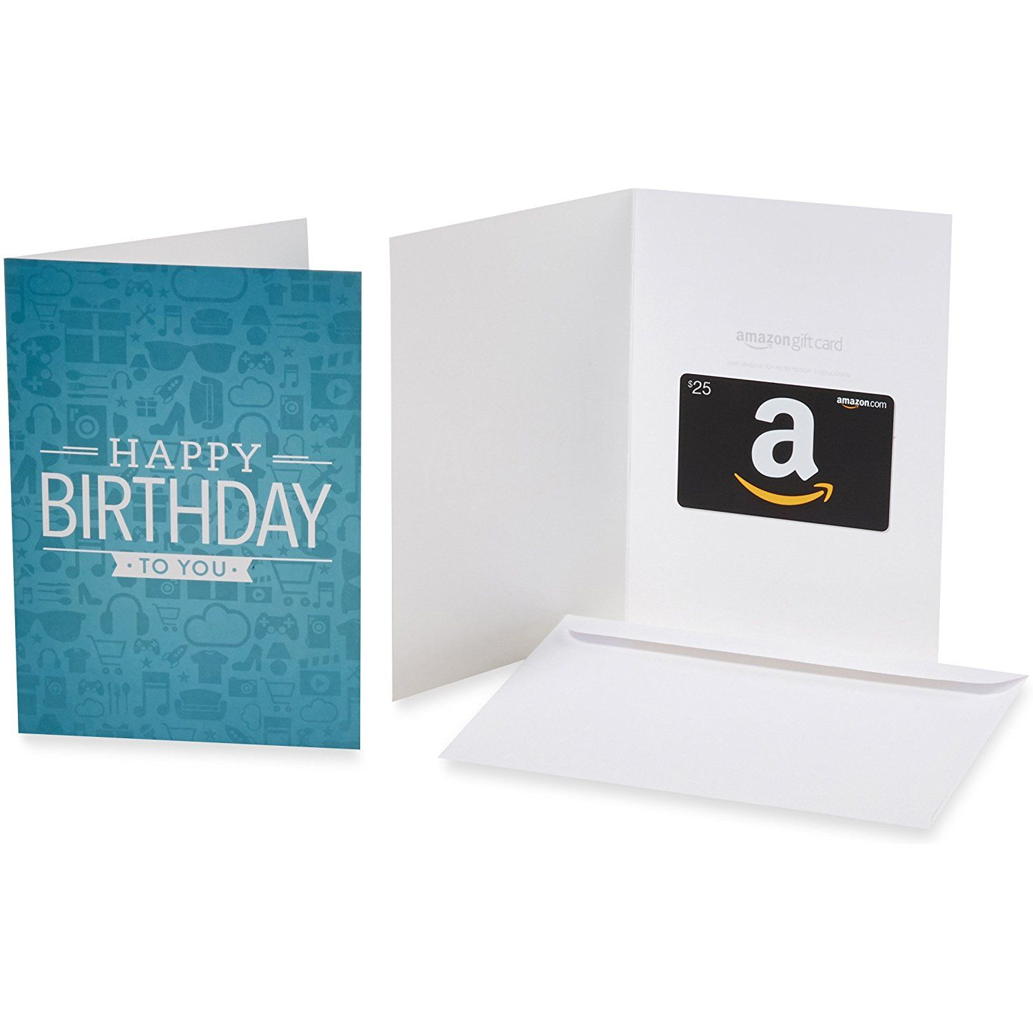 Amazon Gift Card In A Greeting Various Designs GiftCards Birthday