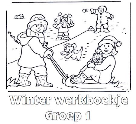 Winter Werkboekje Groep 2 Thema Winter Allerlei Pinterest