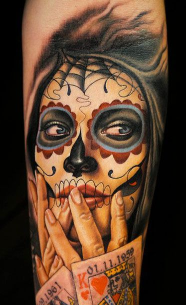 muerte tattoo by nikko hurtado la catrina totenkopf. Black Bedroom Furniture Sets. Home Design Ideas