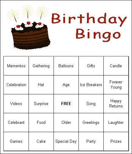 graphic about Free Printable Birthday Party Games Adults called Grownup Birthday Celebration Game titles Guidelines ESL Birthday get together