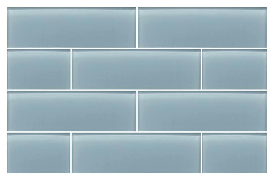 Jasper Blue Gray 4x12 Glass Subway Tiles | Tub surround, Subway ...
