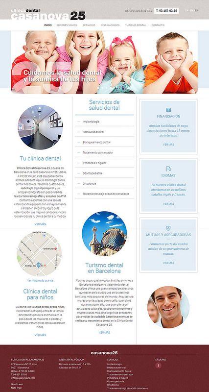 Página Web De Clínica Dental Casanova25 Diseño Web Posicionamiento Web Y Marketing Online Para Dentista De Barcelona