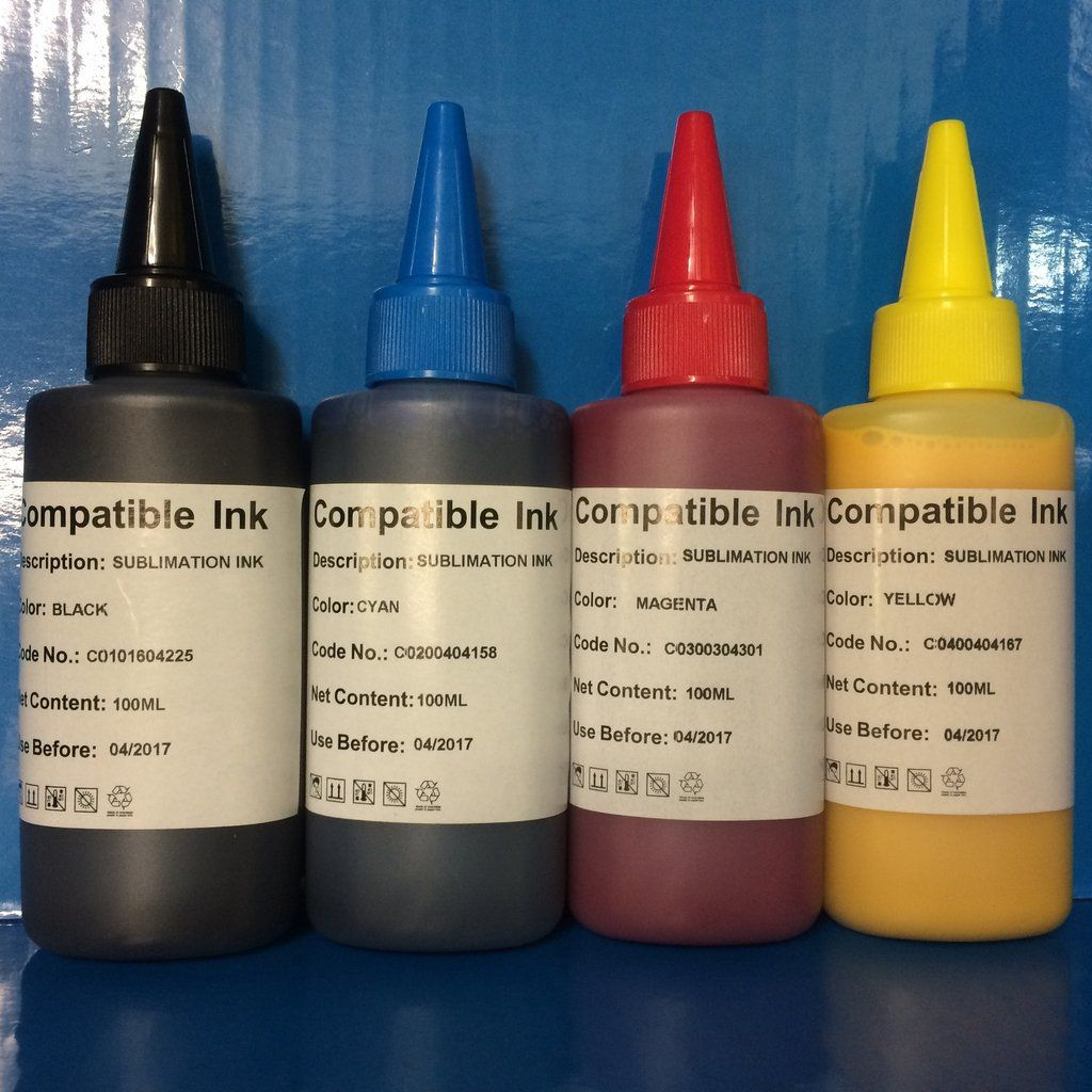 9f2f42bff9606 Sublimation Heat Transfer Refill Ink for use with Epson Printer Non ...
