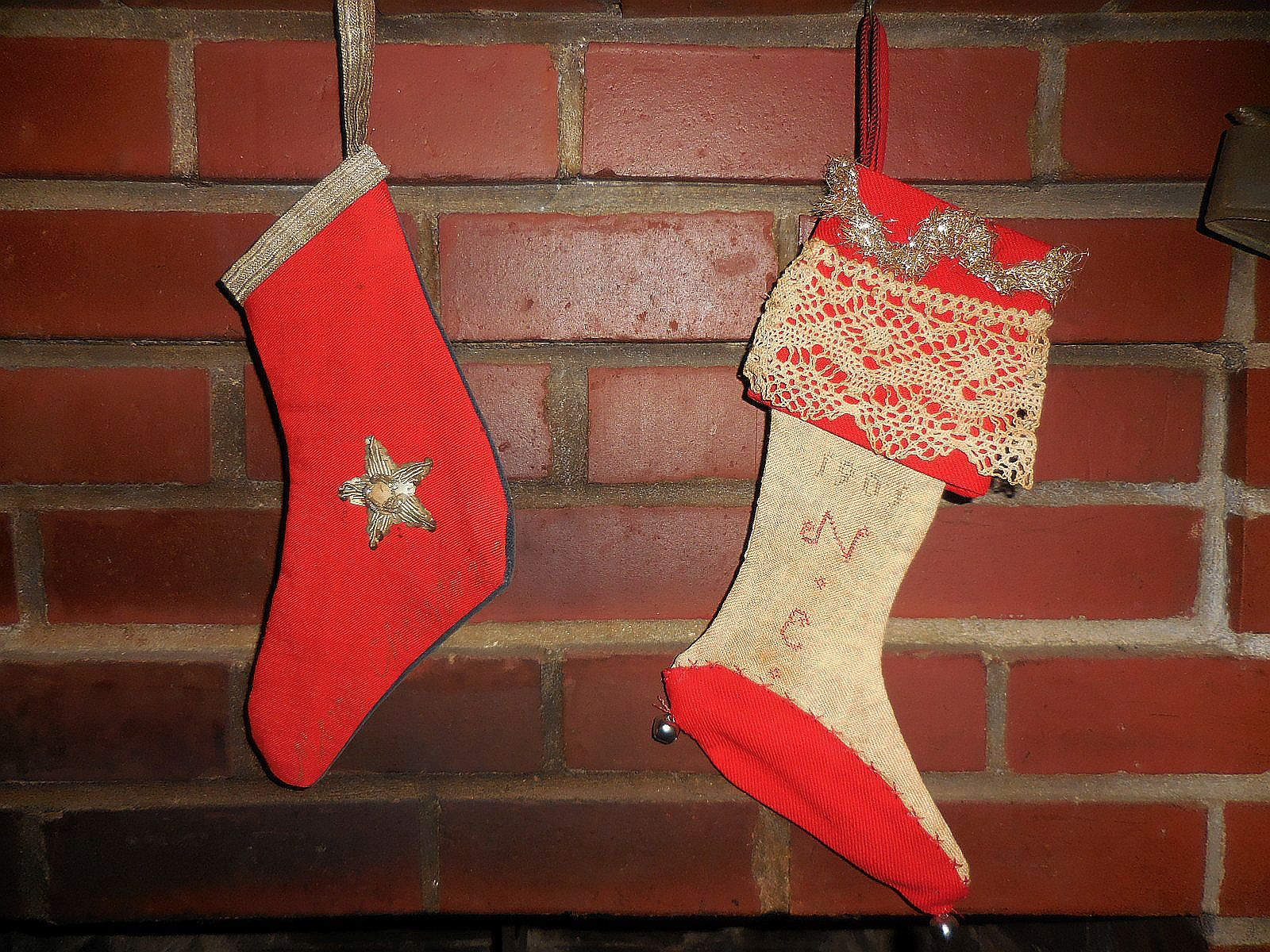 antique christmas stocking country christmas - Country Christmas Stockings