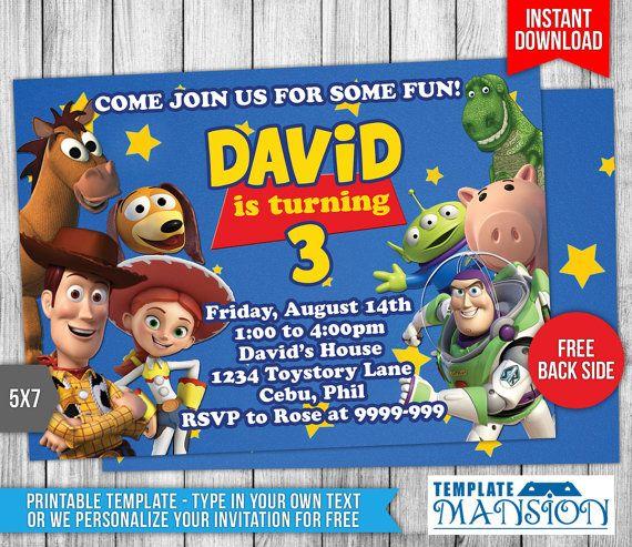 Toy Story Invitation Toy Story Birthday By Templatemansion On Etsy