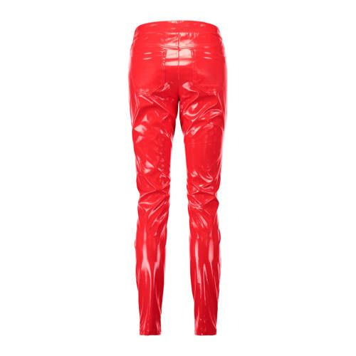789a6bca774 CoolCat lak skinny fit broek rood in 2019 | Products - Skinny ...