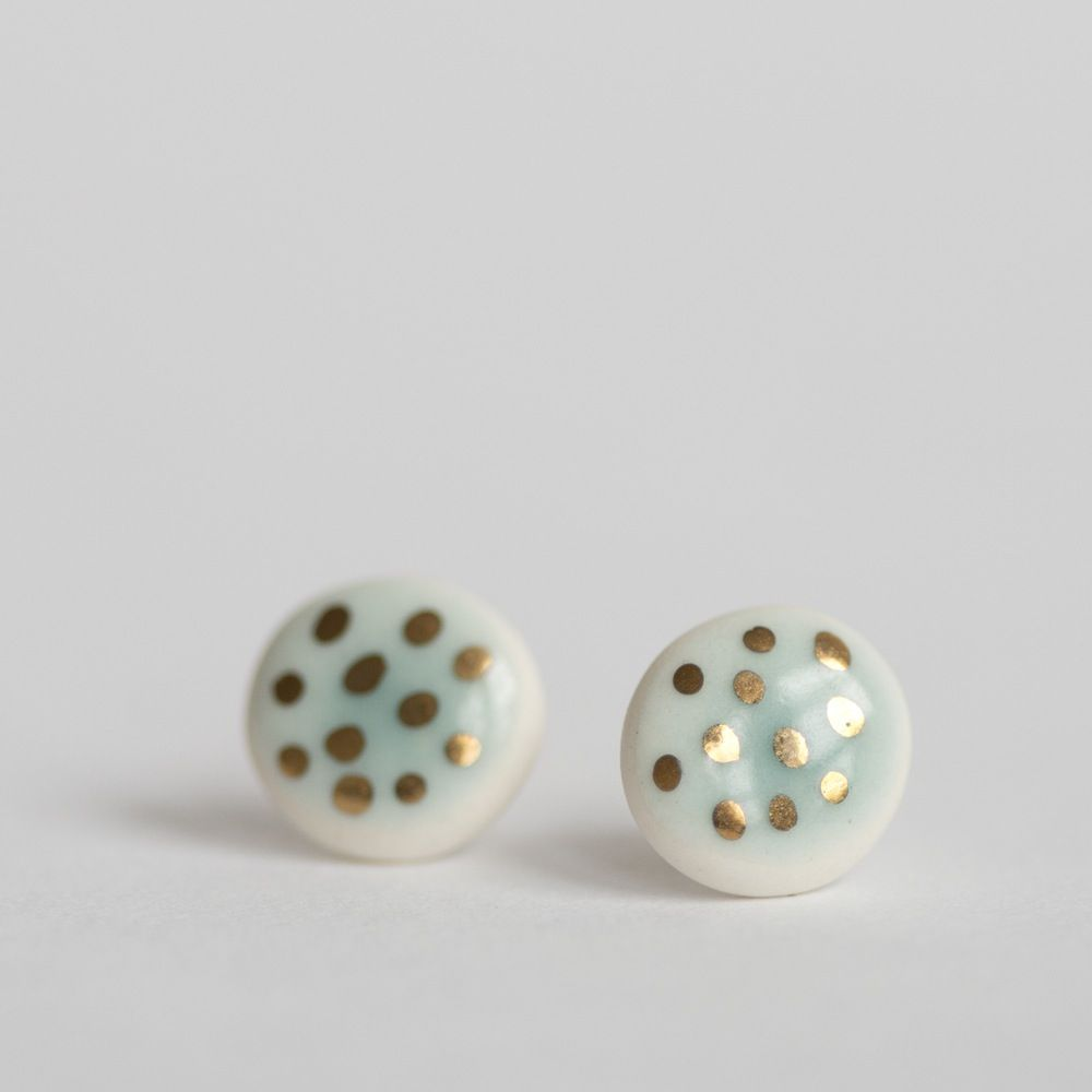claire s earrings ball stud gold plated real