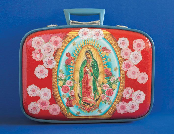 a Virgin video with mary suitcase