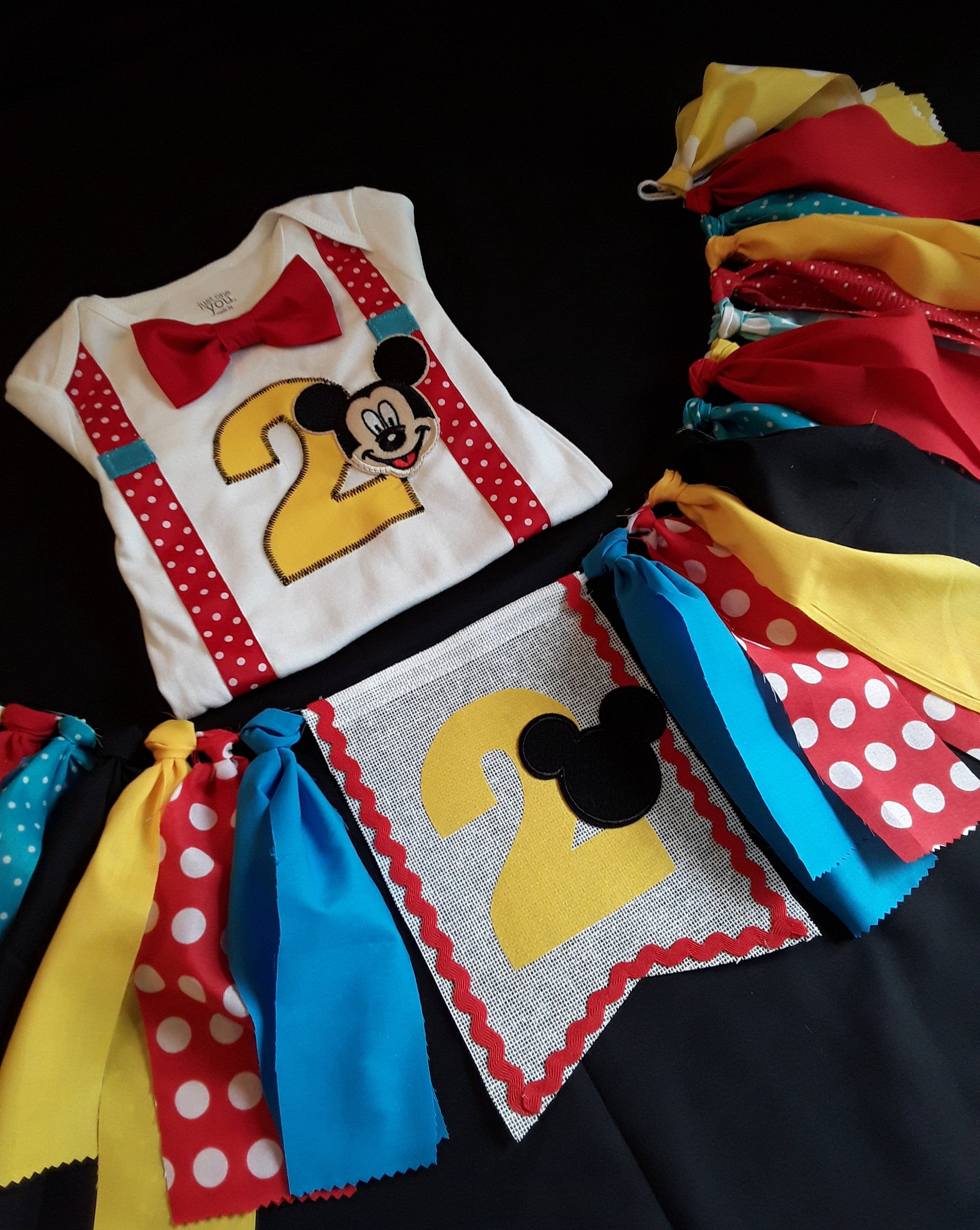 Mickey mouse 2nd birthday outfit boy mickey mouse