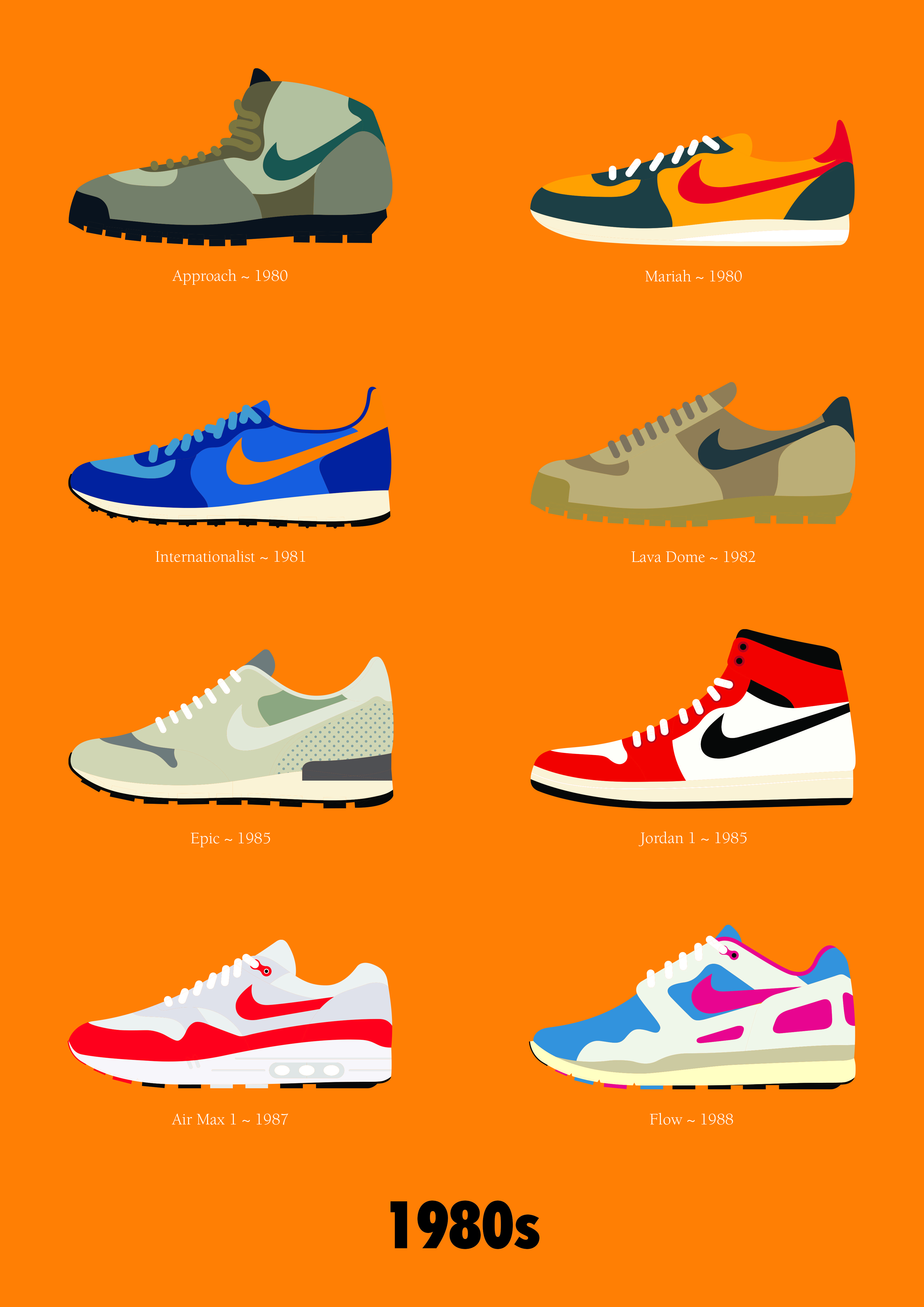 Bottom right is a cool neon colour palette for the nike