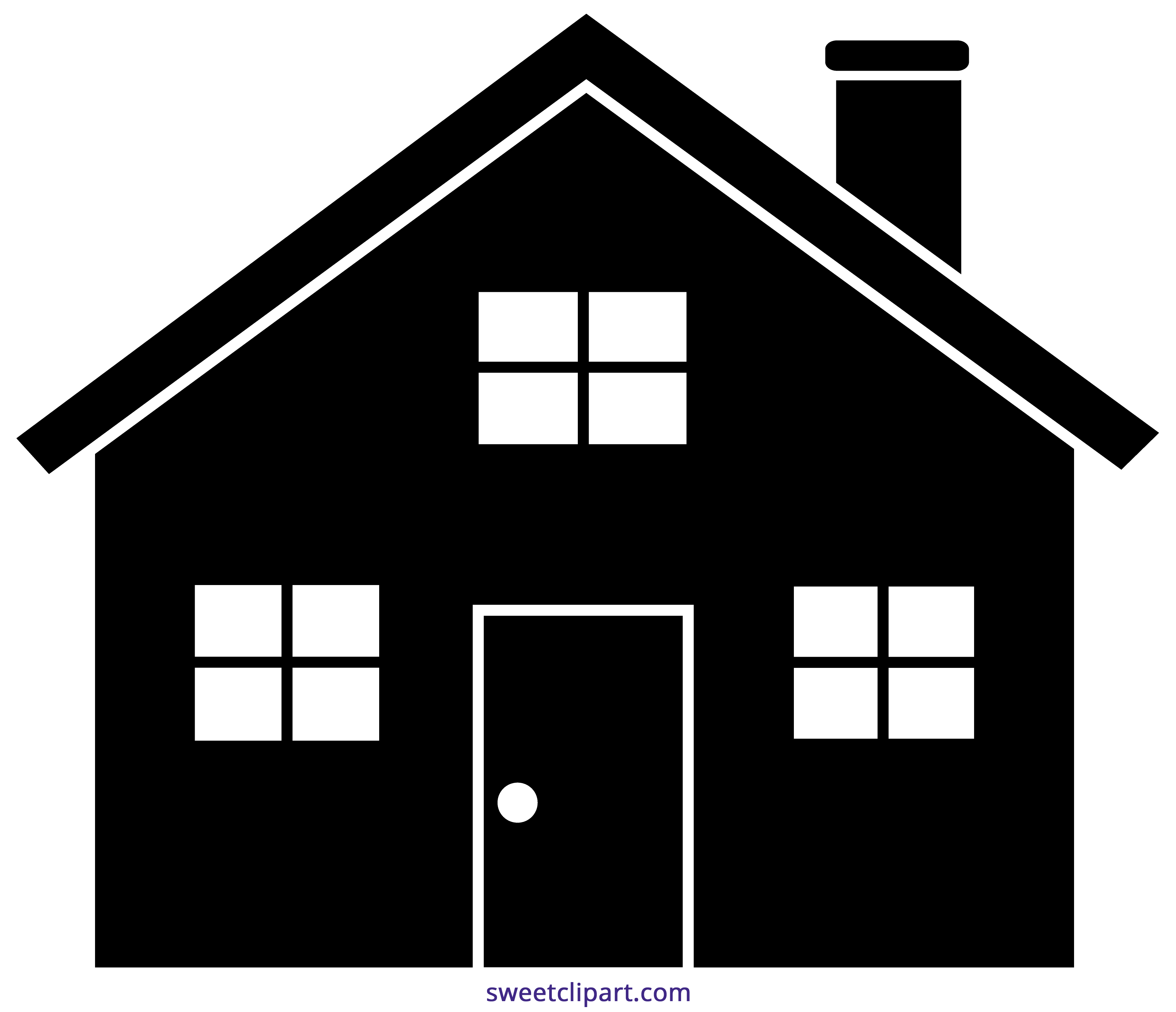 Related Image House Silhouette Cute House House Clipart