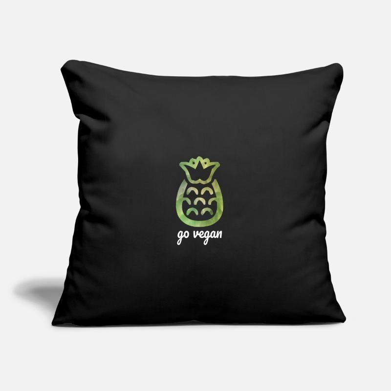 "Go vegan pineapple Throw Pillow Cover 18"" x 18"" | Spreadshirt"