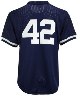 Mitchell & Ness Men's Mariano Rivera New York Yankees Authentic Mesh Batting Practice V-Neck Jersey - Navy/White L