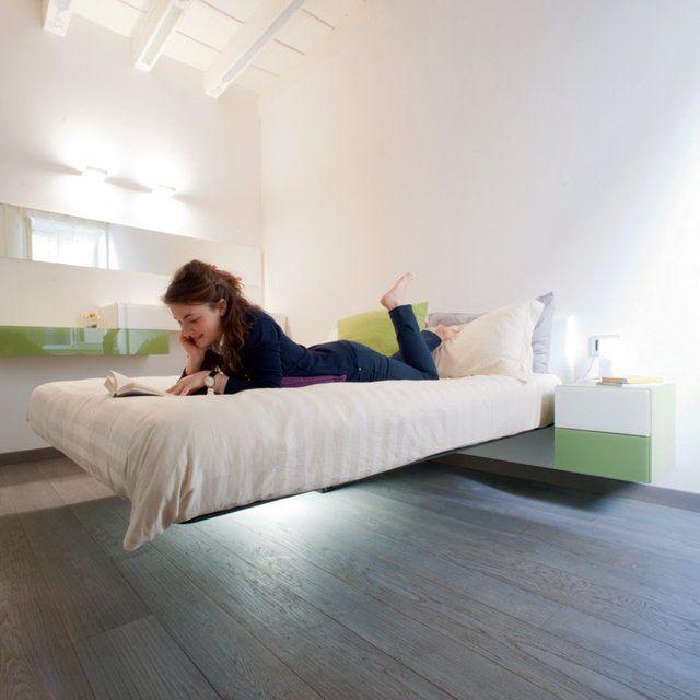 Fluttua Floating Bed By Daniele Lago Floating Bed Floating Bed Frame Bed Design