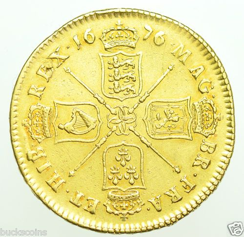Five Guineas British Gold Coin Gvf