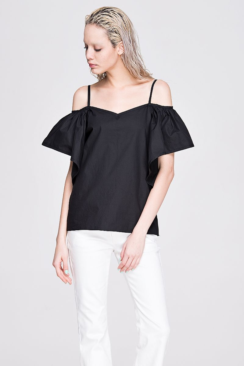 Ruffled off-shoulder top - FrontRowShop