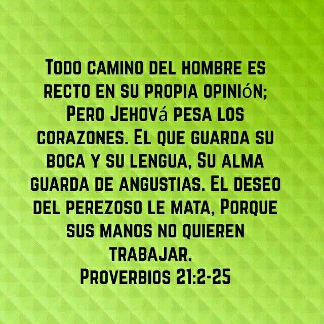 Versiculos De La Biblia De Animo: Proverbios 21:2-25