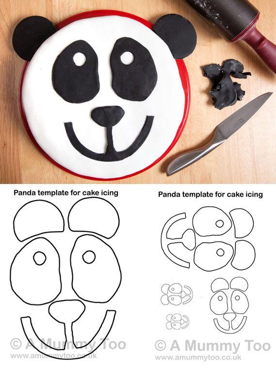 Panda Cake Recipe With Printable Template A Mummy Too Recipe Panda Cakes Childrens Party Food Cake Templates