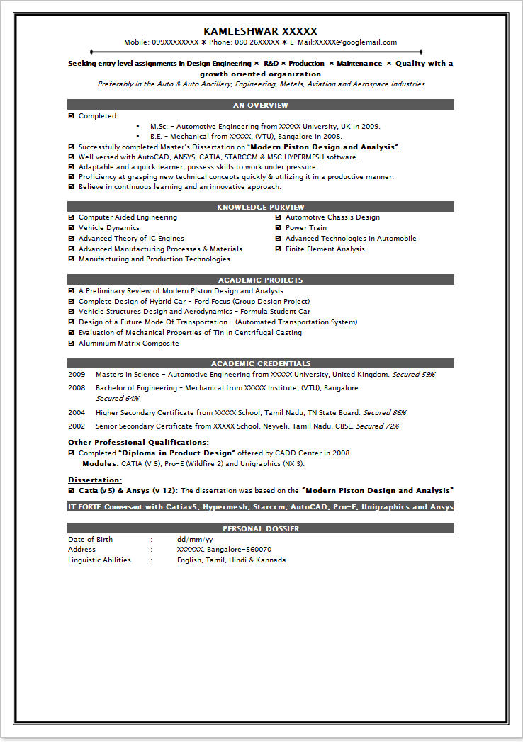 resume sample for job interview Job Resume Template Pdf. Resume Sample For  Fresher Are Really .