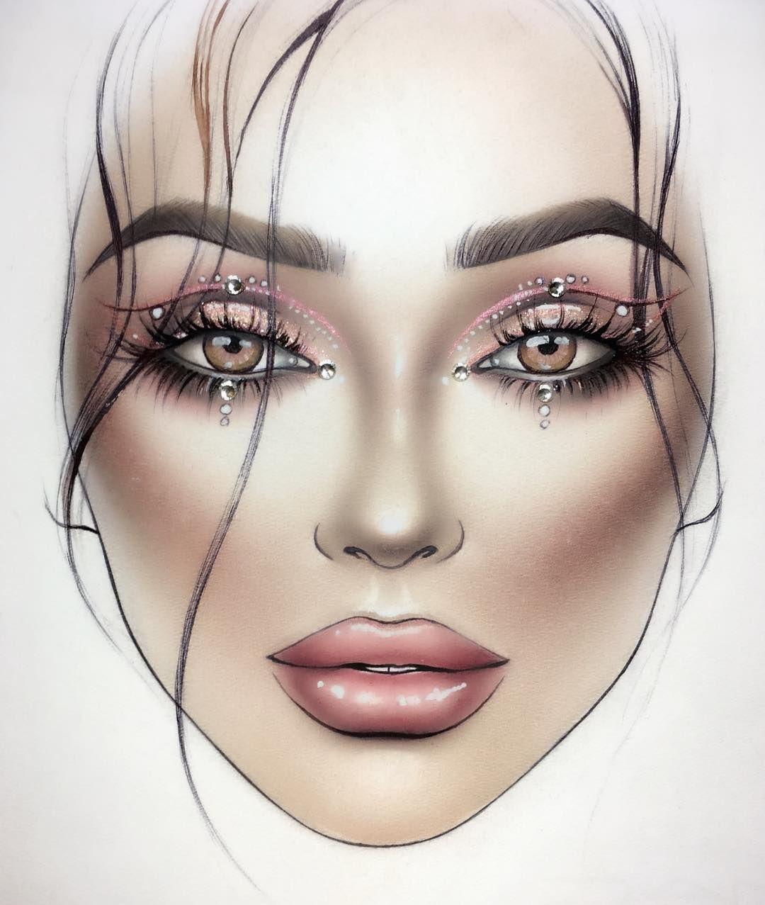 Pin by Shannan Mae on Face charts Makeup face charts