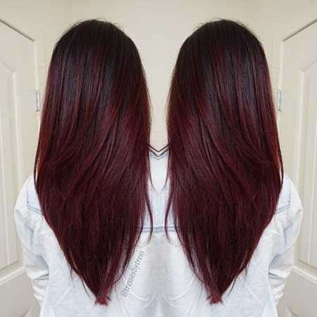 Couleur cheveux balayage rouge