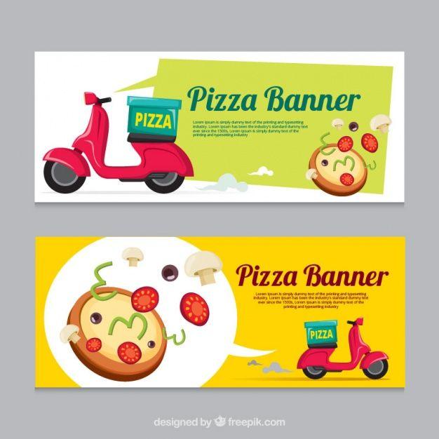 Banners de entrega de pizza   Pinterest   Layouts and Logos